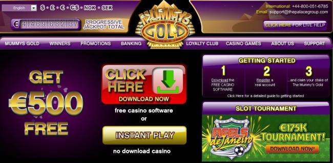 Mummys Gold Live Casino